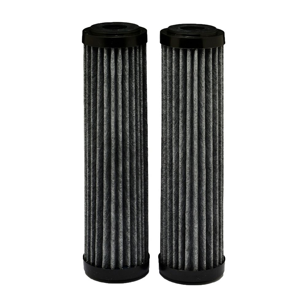 EcoPure Premium carbon FACT Universal Replacement Water Filters, 2.5 inch x 10 inch (2-Pack)