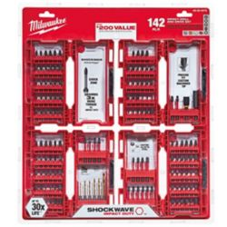 Milwaukee Tool Shockwave Impact Duty Drill and Drive Bit Set (142-Piece)