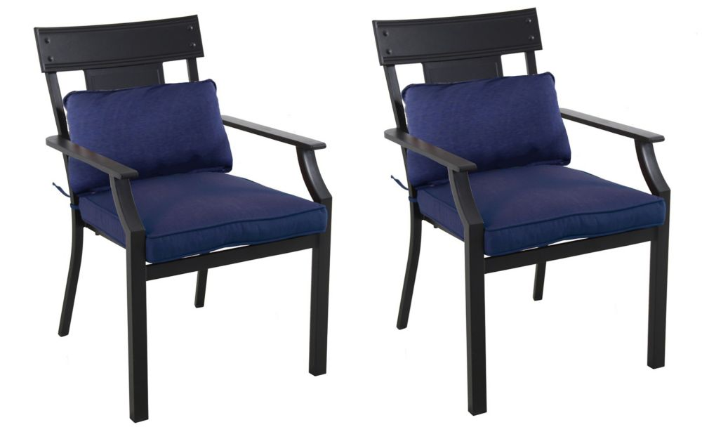 Coopersmith 2 Pack Dining Chairs - Navy