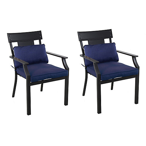 Coopersmith Navy Patio Dining Chair (Set of 2)