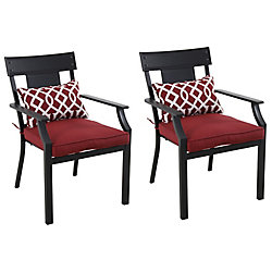 Chaise de jardin Coopersmith, rouge, ens. de 2