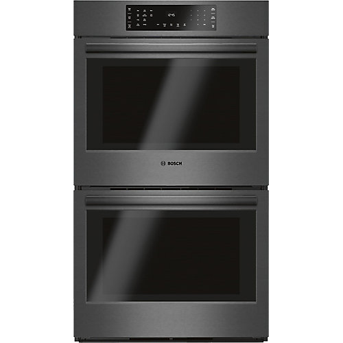 800 Series -30 inch Double Wall Oven w/ European Convection - Black Stainless Steel