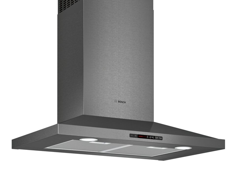 Bosch 800 Series - 30 inch Pyramid Canopy Chimney Hood - 600 CFM - Black Stainless Steel