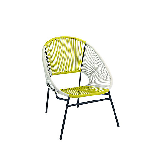 Egg Patio Chair in Yellow/White