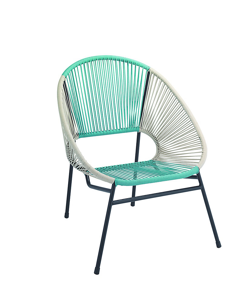 016f359acf Hampton Bay Egg Patio Chair in Blue/White | The Home Depot Canada
