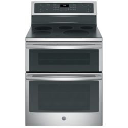 GE Profile 30-inch 6.6 cu. ft. Double Oven Electric Range with Self Cleaning Convection in Stainless Steel