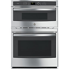30 inch Built-In Single Electric Convection Wall Oven with Built-In Microwave - Stainless steel