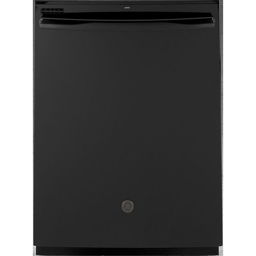 GE 24-inch Top Control Built-In Tall Tub Dishwasher in Black with Steam Cleaning