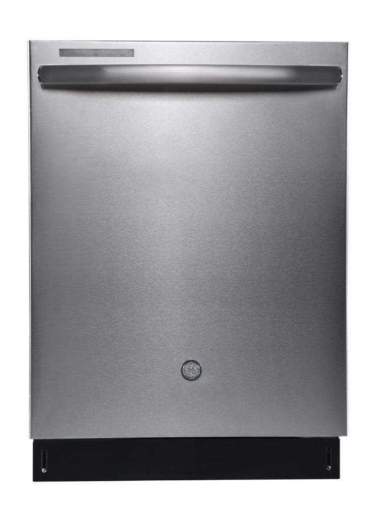 GE Profile 24-inch Top Control Tall Tub Built-In Dishwasher in Stainless Steel with Stainless Steel Tub