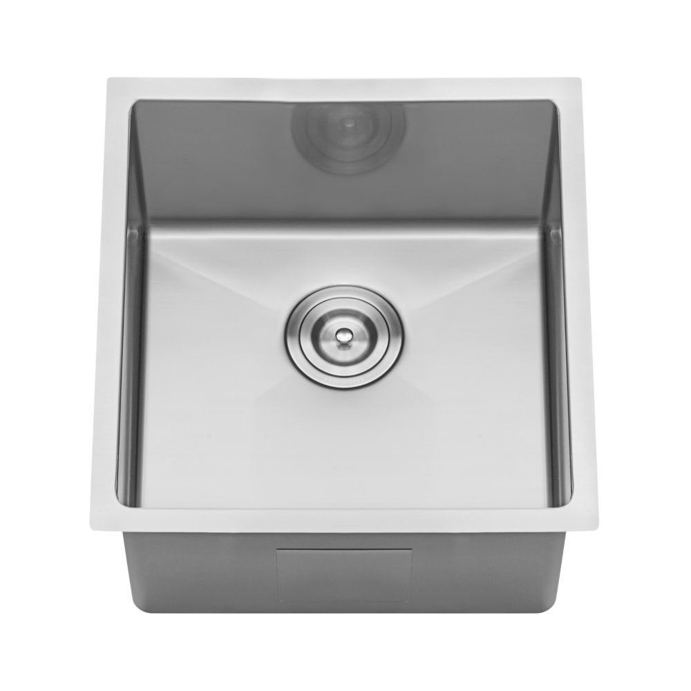 Ruvati Undermount Stainless Steel 14 inch Bar Prep Single Bowl Kitchen Sink 16-Gauge