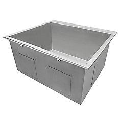 25 inch Drop-in Single Bowl 16-Gauge Stainless Steel Laundry Utility Sink