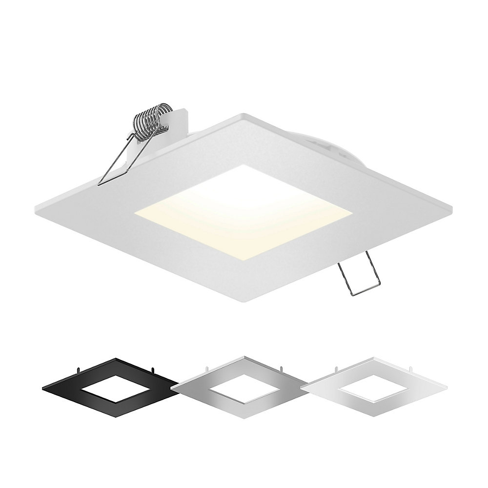 Illume 4 Inch Colour Selectable Integrated Led Square Recessed Lighting Kit