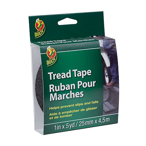 Duck Brand Tread Tape - Black, 1 inch x 5 yd.