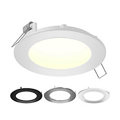 5-inch Color Selectable New Construction and Remodel IC Rated Recessed Integrated LED Round Kit
