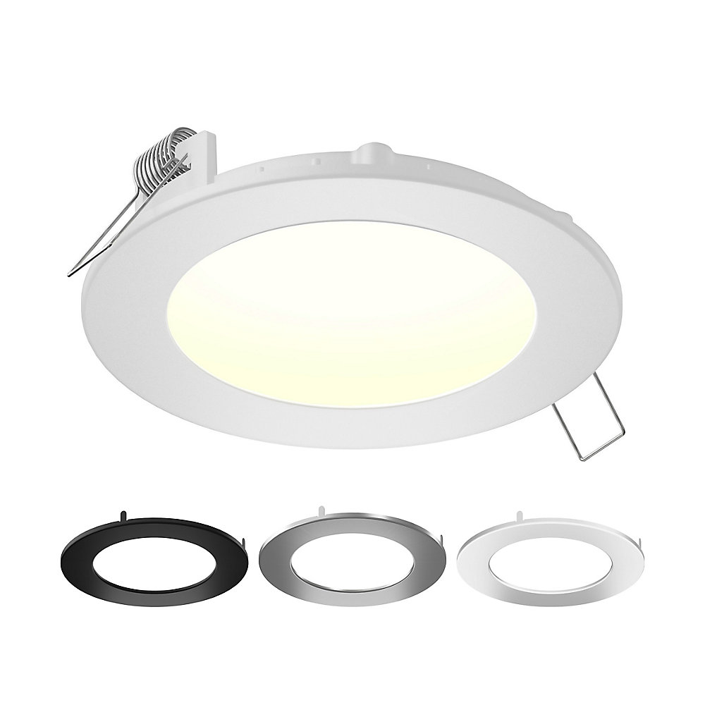 4-inch Multi-Colour Integrated LED IC Rated Round Recessed Lighting Kit