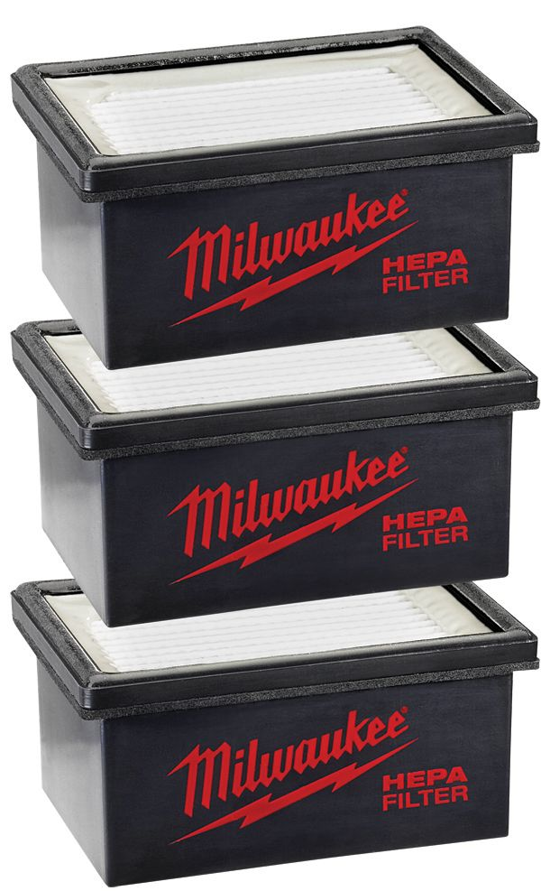 Milwaukee Tool HAMMERVAC Filter Replacement for model 0850-20 (3-Pack)