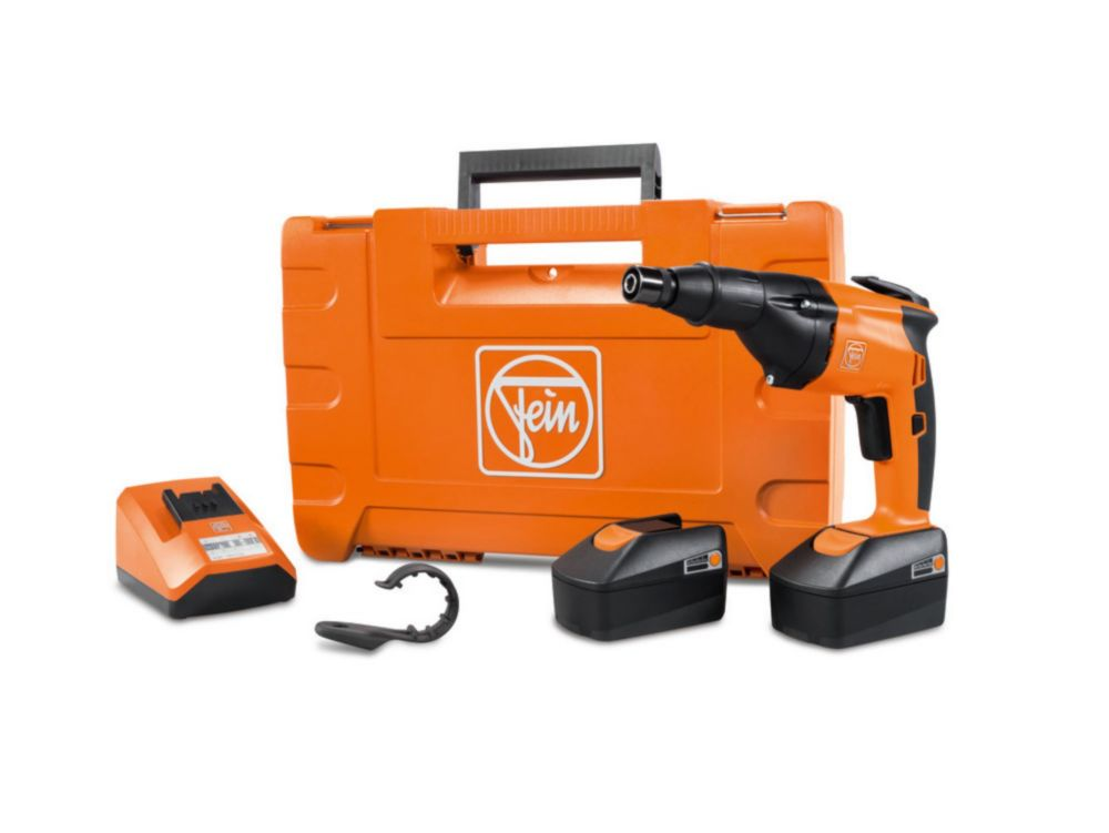 FEIN ASCS6.3 SET Compact Cordless 1/4 inch Screwdriver 18V with 2.5Ah Batteries and Charger