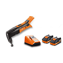 FEIN ABLK18 1.6E SET Cordless 18V Nibbler 16 gauge 1/16 inch with 2.5Ah Batteries and Charger