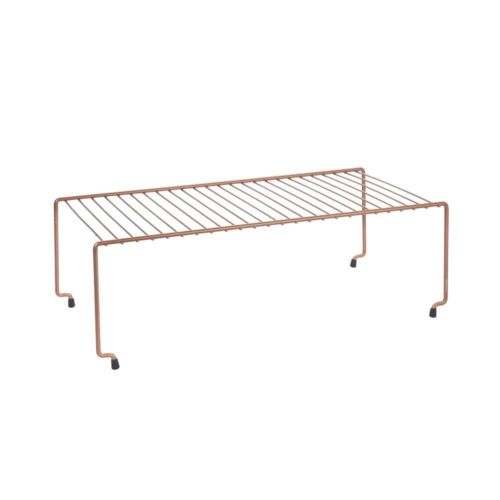 Metaltex Brooklyn Copper Space Saver Stackable Shelf