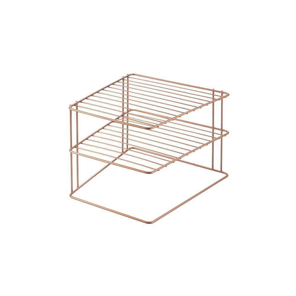 Metaltex Palio Copper Space Saver Corner Rack