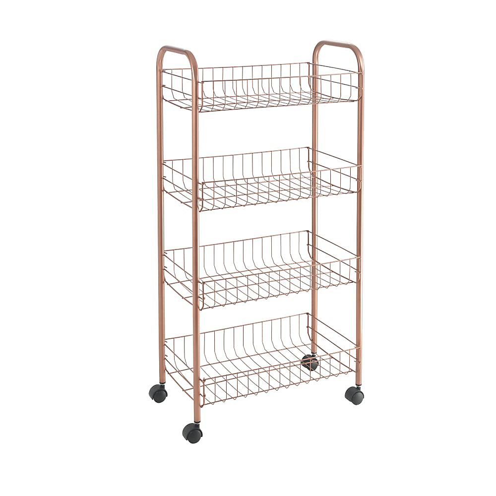 Ascona 4 Copper Multipurpose Storage Cart