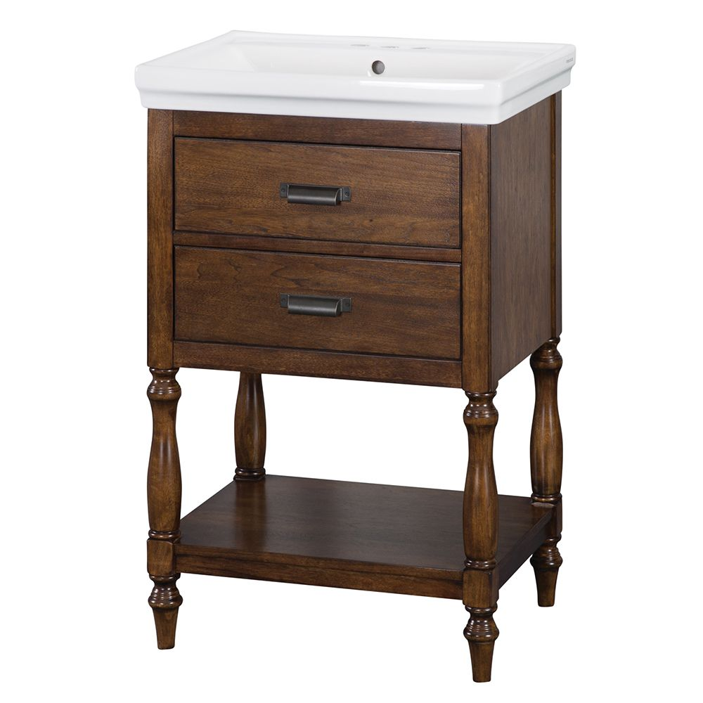 Foremost Cherie 24 inch Vanity Combo in Dark Walnut