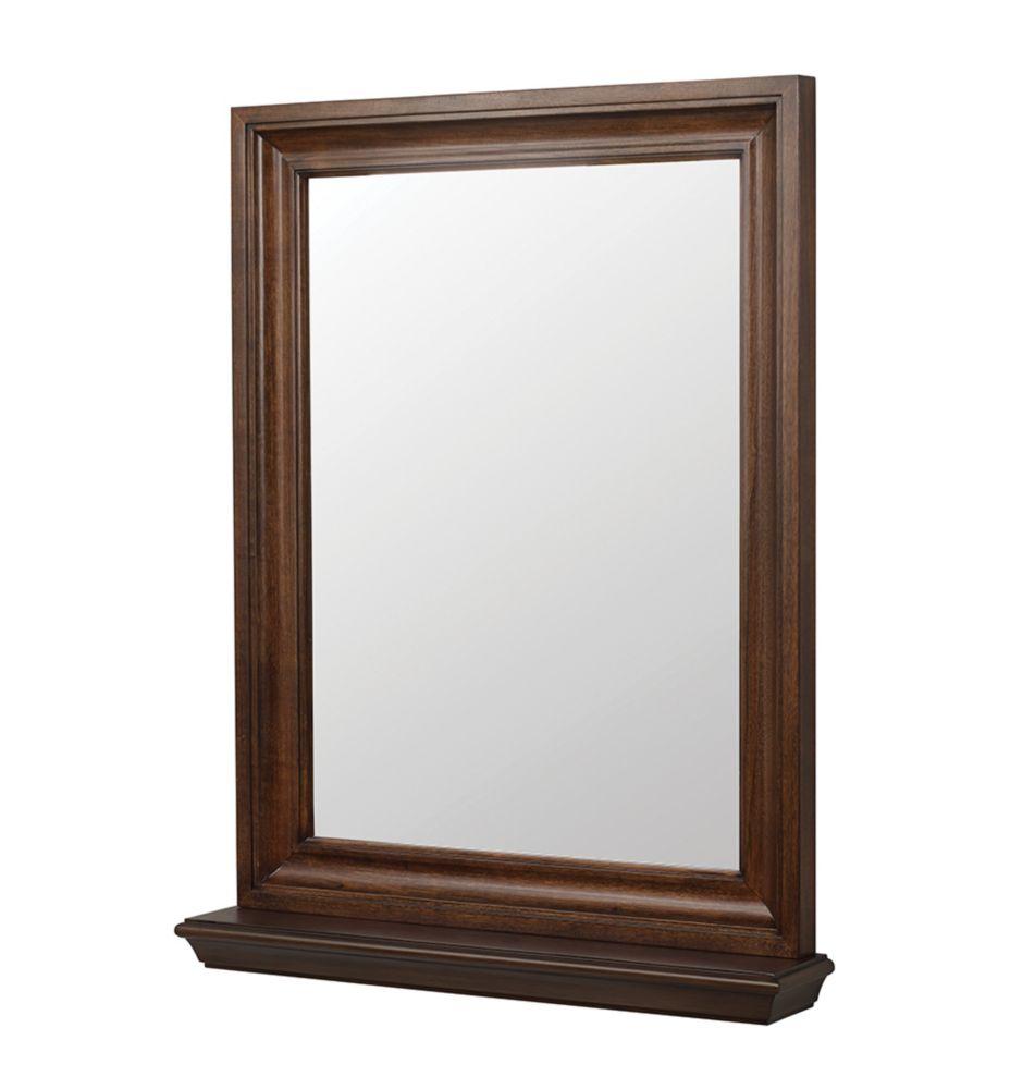 Foremost Cherie 24in Mirror in Dark Walnut
