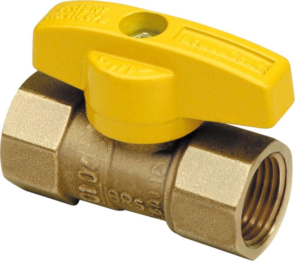 BrassCraft Gas Ball Valve, Straight 1/2-inch FIP x 1/2-inch FIP