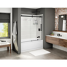 Halo 56 1/2-59 inch x 59 inch Sliding Tub Door in Matte Black