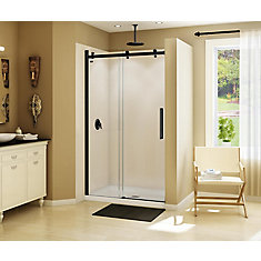 Halo 44 1/2-47 inch x 78 3/4 inch Sliding Shower Door in Matte Black