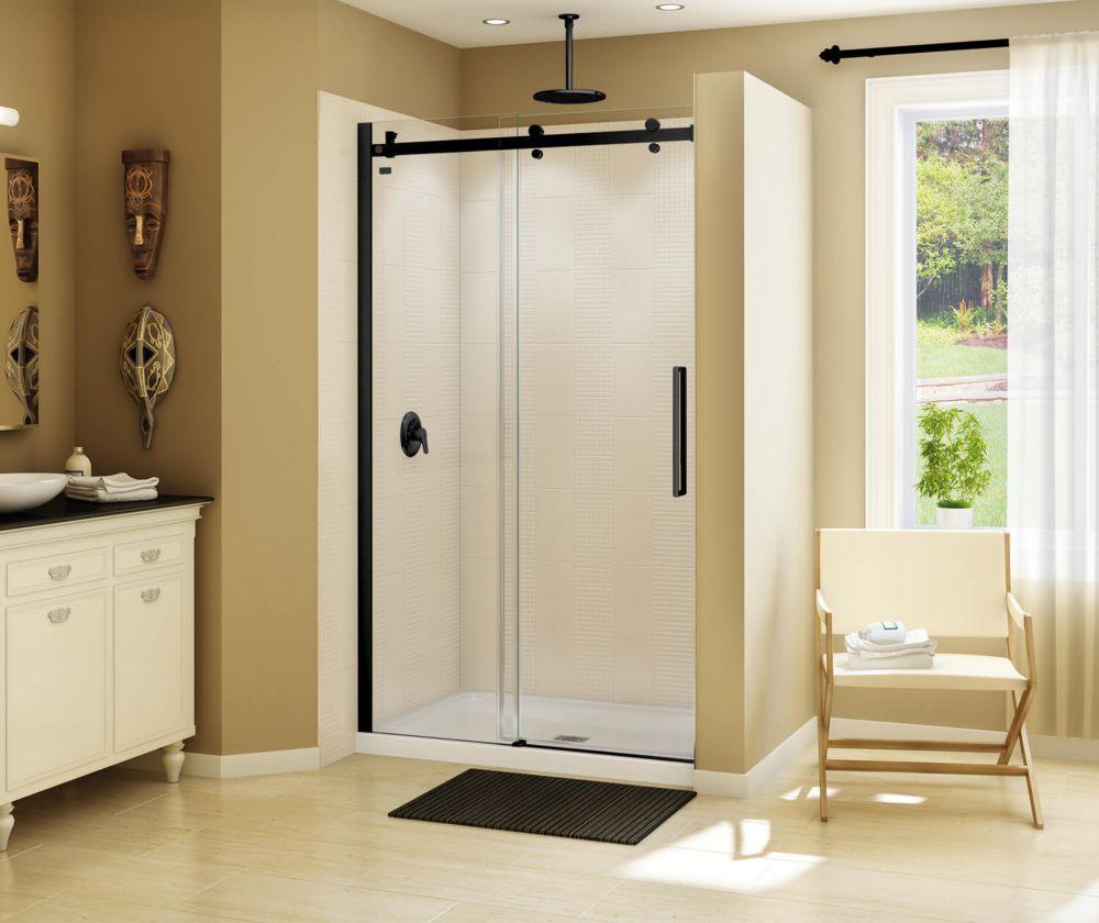 MAAX Halo 44 1/2-47 inch x 78 3/4 inch Sliding Shower Door in Matte Black