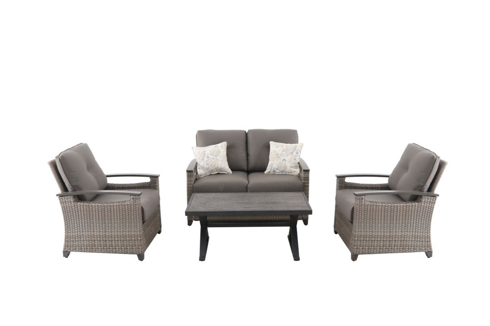 Hampton Bay Franklin Estates 4-Piece Chat Set