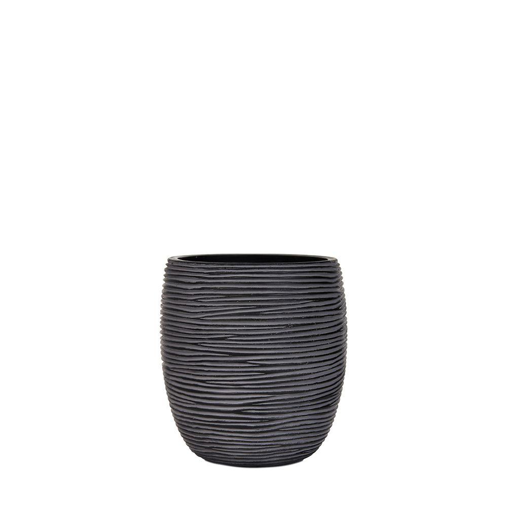 Home Decorators Collection Vase elegant high II rib 7.1x7.1x8.2 inch black