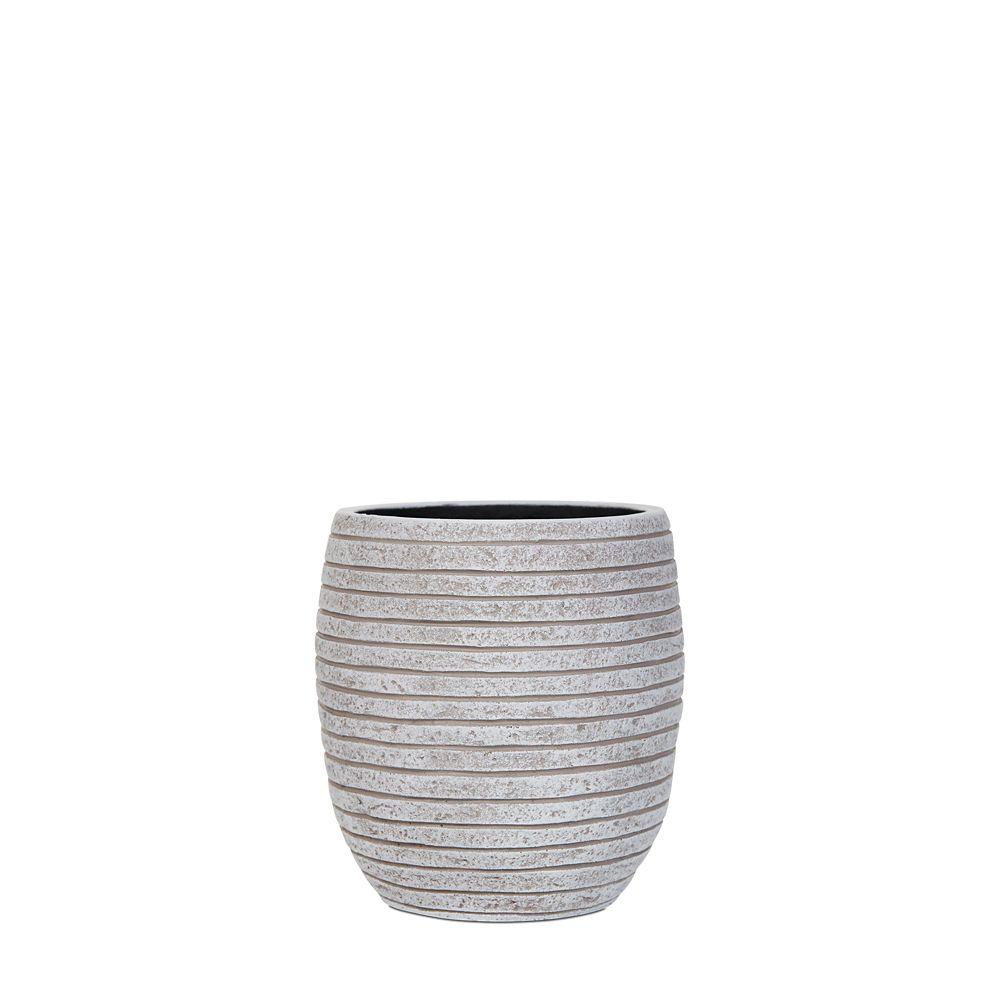 Home Decorators Collection Vase elegant high II row 7.1x7.1x8.2 inch ivory