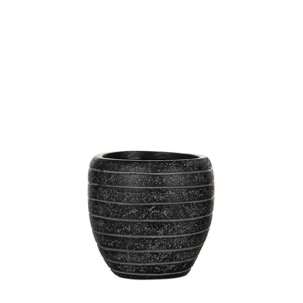 Home Decorators Collection Vase elegant row 9.8x9.8x9.8 inch black