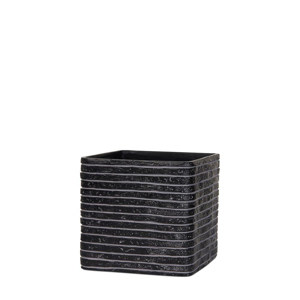 Home Decorators Collection Planter square IV row 9.8x9.8x9.8 inch black