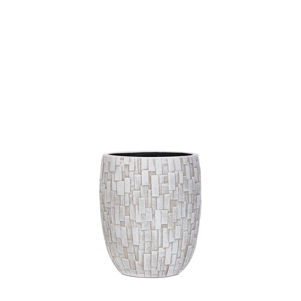 Home Decorators Collection Vase elegant high II stone 7.1x7.1x8.2 inch ivory