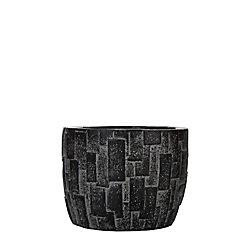 Home Decorators Collection Jardinière oeuf brique II 9x9x8 cm noir