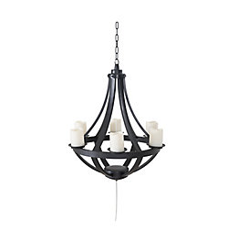 Sunjoy Francis Plastic Hanging LED Chandelier