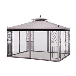 Sunjoy 2 ft. x 10 ft. Parlay Gazebo with Netting