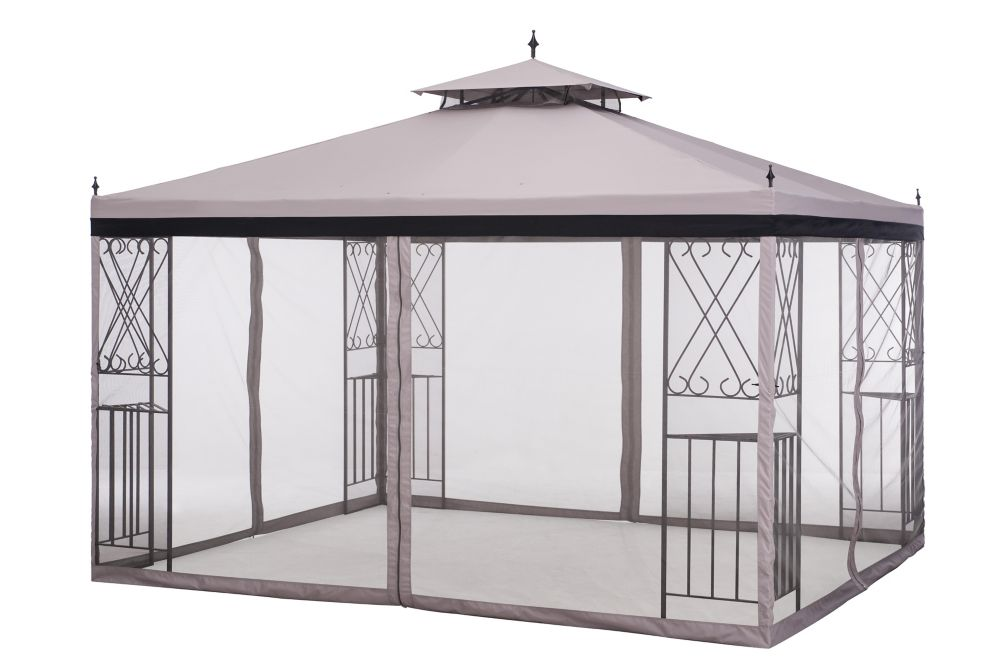 Sunjoy 2 ft. x 10 ft. Parlay Gazebo w/Netting