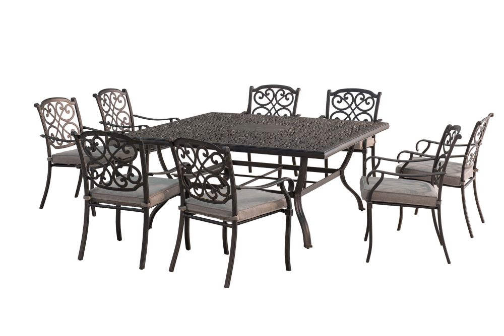 Sunjoy Roosevelt 9 Piece Square Dining Set