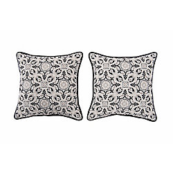 Sunjoy Mendoza Medallion Alabaster Pillow (2-Pack)