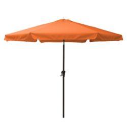 Corliving 10 ft. Round Tilting Orange Patio Umbrella