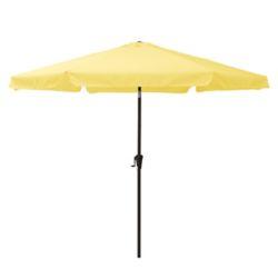 Corliving 10 ft. Round Tilting Yellow Patio Umbrella