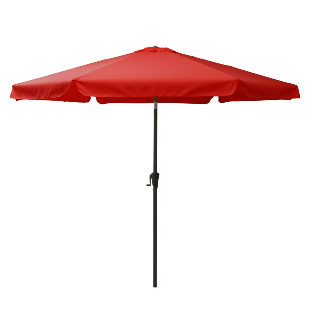 Corliving Tilting Patio Umbrella in Crimson Red