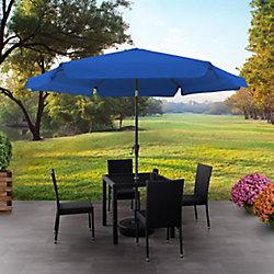 Corliving 10 ft. Round Tilting Cobalt Blue Patio Umbrella
