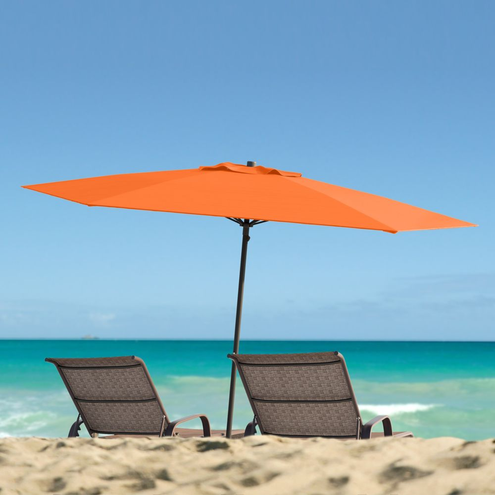 Corliving UV and Wind Resistant Beach/Patio Umbrella in Orange