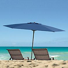 UV and Wind Resistant Beach/Patio Umbrella in Cobalt Blue