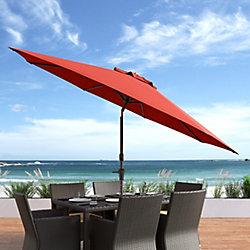 Corliving Parasol de patio/plage pivotant resistant aux UV et au vent rouge pourpre de 10 pieds